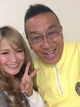阿藤快さん(右)の訃報にコメントを発表したギャル曽根(画像はギャル曽根のブログより)