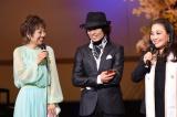 10月に子守唄「うまれてきてくれて ありがとう」を披露(左から)クミコ、つんく♂、湯川れい子氏