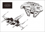 『STAR WARS THE FORCE AWAKENS SPECIAL BOOK』「MILLENNIUM FALCON」パターン特典のクリアステッカー
