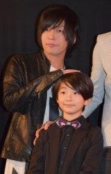 映画『アウターマン』の初日舞台あいさつに出席した(左から)Gero、福田ラザ (C)ORICON NewS inc.
