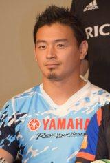 『ジャパンラグビートップリーグ2015-2016』のプレスカンファレンスに出席した五郎丸歩選手 (C)ORICON NewS inc.
