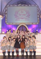 5周年を迎えたさくら学院と祝福に駆けつけた三吉彩花、松井愛莉