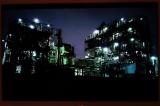 岩崎氏がスマートフォンで撮影した夜景・浮島の工場