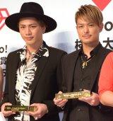 """""""今年の顔""""に選出された三代目 J Soul Brothers from EXILE TRIBEの(左から)登坂広臣、今市隆二 (C)ORICON NewS inc."""