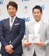 男性部門で3位を獲得した(左から)松岡修造、錦織圭 (C)ORICON NewS inc.