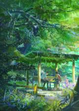 新海誠の過去作品『言の葉の庭』ポスター(C)Makoto Shinkai / CoMix Wave Films