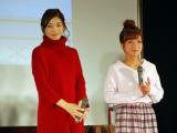 モーニング娘。から、モーニングママ。へ アイドルの子育てリアルライフをテーマにトークイベントに出演した元モーニング娘。の飯田圭織(左)と辻希美(右) (C)ORICON NewS inc.