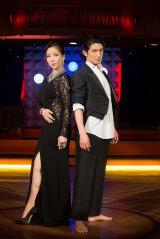 12月22日放送、関西テレビ・フジテレビ系『黒蜥蜴』で真矢ミキとバレエダンサーの西島数博が結婚後初共演(C)関西テレビ