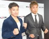年末開催のRIZINで対戦することが発表された(左から)才賀紀左衛門、所英男 (C)ORICON NewS inc.