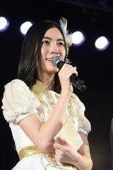 AKB48として最後の劇場公演を行った松井珠理奈 (C)AKS