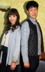 このほど行われた取材会に出席した(左から)片瀬那奈、小籔千豊 (C)ORICON NewS inc.