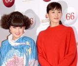 『第66回紅白歌合戦』で司会を務める(左から)黒柳徹子、綾瀬はるか (C)ORICON NewS inc.