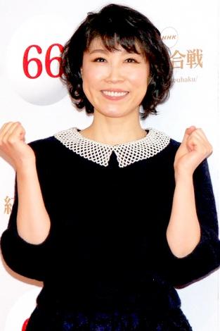 『第66回紅白歌合戦』リハーサル後、会見に応じた水森かおり (C)ORICON NewS inc.