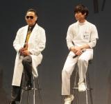 フジテレビ系ドラマ『フラジャイル』の試写会に登壇した(左から)北大路欣也、野村周平 (C)ORICON NewS inc.