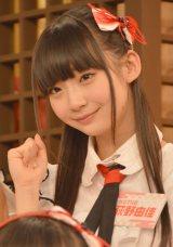 HKT48とNGT48による日本テレビ新番組『HKT48vsNGT48 さしきた合戦』(毎週月曜 深1:29※関東ローカル)に出演する萩野由佳 (C)ORICON NewS inc.