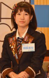 HKT48とNGT48による日本テレビ新番組『HKT48vsNGT48 さしきた合戦』(毎週月曜 深1:29※関東ローカル)に出演する朝長美桜 (C)ORICON NewS inc.
