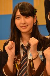 HKT48とNGT48による日本テレビ新番組『HKT48vsNGT48 さしきた合戦』(毎週月曜 深1:29※関東ローカル)に出演する松岡菜摘 (C)ORICON NewS inc.