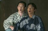 2016年の大河ドラマは『真田丸』第1話「船出」より。父・真田昌幸の覚悟を聞いて驚いて開いた口がふさがらない信繁と信幸(C)NHK