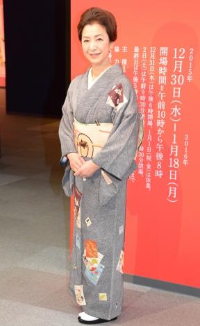 艶やかな着物姿を披露した高橋惠子=『追悼 池田重子コレクション 日本のおしゃれ展』 (C)ORICON NewS inc.
