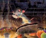 ハーレイ・ジェサップ(レイアウト:エンリコ・カサローザ)【カラースクリプトの習作:ラタトゥイユを作るレミー】『レミーのおいしいレストラン』(2007年) デジタルペインティング(C) Disney/Pixar