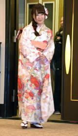 「AKB48グループ成人式記念撮影会」に参加したAKB48の名取稚菜 (C)ORICON NewS inc.