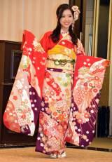 「AKB48グループ成人式記念撮影会」に参加したAKB48の濱松里緒菜 (C)ORICON NewS inc.
