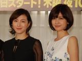 広末涼子(左)と内田有紀(右)の共演でおくる犯罪サスペンス『ナオミとカナコ』フジテレビ系で木曜10時放送