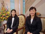 1月16日深夜放送、『TOKYO応援宣言』内で放送される「沙保里の部屋」に出演する(左から)吉田沙保里選手、登坂絵莉選手(C)テレビ朝日
