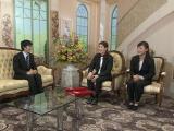 1月16日深夜放送、『TOKYO応援宣言』内で放送される「沙保里の部屋」の模様(C)テレビ朝日