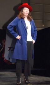 ペギー・カーターをイメージした衣装で登壇した吉田沙保里 (C)ORICON NewS inc.