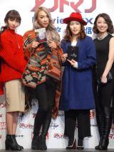 『アントマン』MovieNEX発売記念イベントに出席した(中央左から)GENKING、吉田沙保里 (C)ORICON NewS inc.