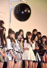 映画『尾崎支配人が泣いた夜 DOCUMENTARY of HKT48』初日舞台あいさつの模様 (C)ORICON NewS inc.