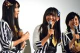 (左から)白間美瑠、薮下柊、須藤凜々花=NMB48ドキュメンタリー映画『道頓堀よ、泣かせてくれ! DOCUMENTARY of NMB48』初日舞台あいさつ (C)ORICON NewS inc.