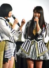(左から)山本彩、白間美瑠=NMB48ドキュメンタリー映画『道頓堀よ、泣かせてくれ! DOCUMENTARY of NMB48』初日舞台あいさつ (C)ORICON NewS inc.