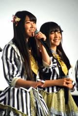 (左から)白間美瑠 、薮下柊=NMB48ドキュメンタリー映画『道頓堀よ、泣かせてくれ! DOCUMENTARY of NMB48』初日舞台あいさつ (C)ORICON NewS inc.