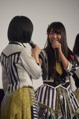白間美瑠=NMB48ドキュメンタリー映画『道頓堀よ、泣かせてくれ! DOCUMENTARY of NMB48』初日舞台あいさつ (C)ORICON NewS inc.