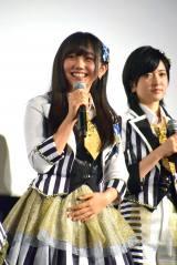 (左から)薮下柊、須藤凜々花=NMB48ドキュメンタリー映画『道頓堀よ、泣かせてくれ! DOCUMENTARY of NMB48』初日舞台あいさつ (C)ORICON NewS inc.