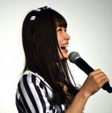 「開いた口がふさがらない」とおどける渋谷凪咲=NMB48ドキュメンタリー映画『道頓堀よ、泣かせてくれ! DOCUMENTARY of NMB48』初日舞台あいさつ (C)ORICON NewS inc.