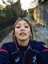 トレーニング中の山本聖子=山本美憂オフィシャルブログ画像より