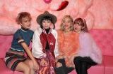 バレンタイン女子会に登場した(左から)UNA、瀬戸あゆみ、AYA、AMI