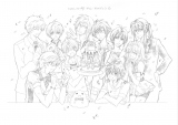 デビュー記念に種村有菜先生が描いたキャラクターイラスト(C)アイドリッシュセブン CD:Arina Tanemura