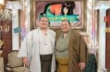 2月9日放送、テレビ朝日系『中居正広のミになる図書館』に初場所で初優勝した琴奨菊関(左)と、親友でライバルの豊ノ島関(右)がゲスト出演(C)テレビ朝日