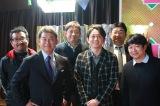 ローカルタレント時代の有吉弘行が出演してたRCCのバラエティー番組『KEN-JIN』のスタッフと(C)RCC