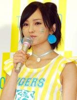 「NMB48が阪神タイガースを可愛く応援! TORACO応援隊長」就任発表記者会見 に出席した山本彩 (C)ORICON NewS inc.