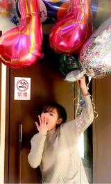 禁煙マークの前で撮影した写真とともに、アメブロに公式ブログを開設した加護亜依