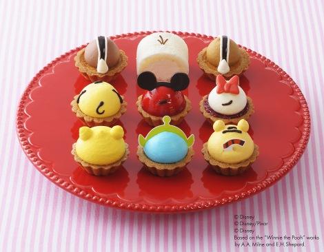 """「ツム」たちの後ろ姿がかわいいプチケーキセット『""""ディズニー ツムツム""""コレクション 』"""
