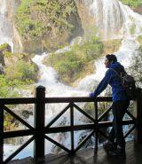 珍珠灘瀑布(滝)にて