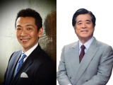 NHK連続テレビ小説『あさが来た』にフリーアナウンサーの宮根誠司(左)と松平定知(右)の出演が決定