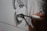五十嵐大介氏が描く漫画に迫る…! (C)NHK