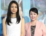 被災地でのドラマ撮影を語った(左から)松下奈緒、松坂慶子 (C)ORICON NewS inc.